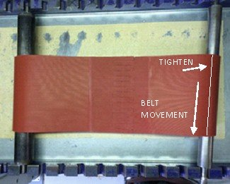 Conveyor belt tracking go to right