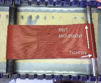Conveyor belt tracking go to left