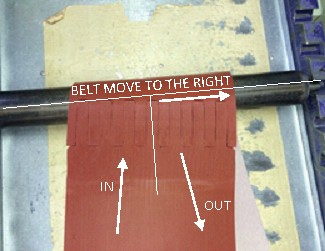 Conveyor belt move to right