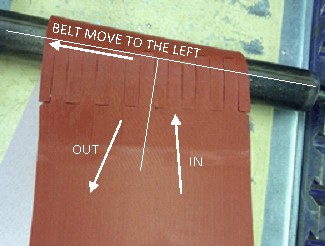 Conveyor belt move to left