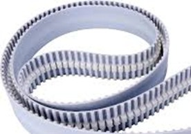 Synchronous timing belts with guide profile