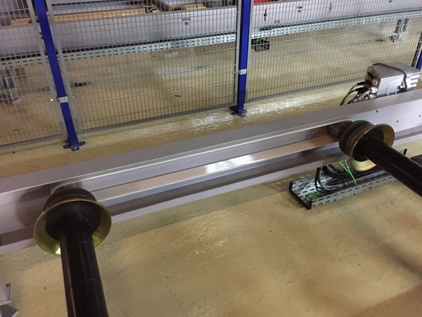 Flat Belt ERO Joint®  HP on skid conveyor