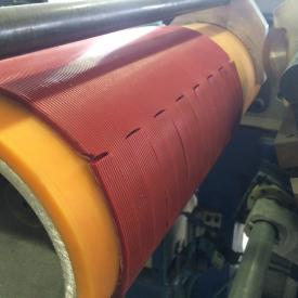 Conveyor belt with ERO Joint® lacing in brick industry